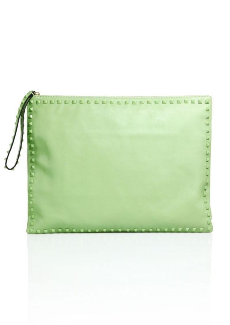 VALENTINO GARAVANI Solid Stud Trimmed Handbag