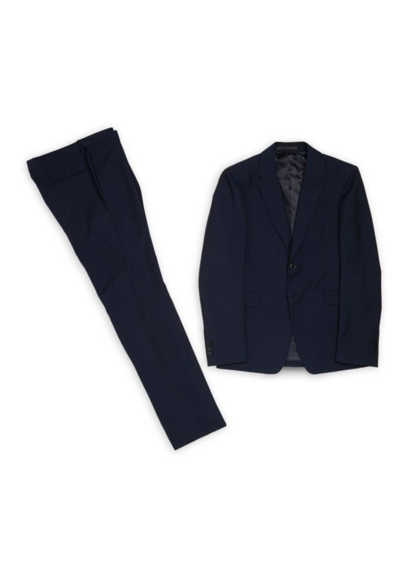 Valentino Solid Wool Suit