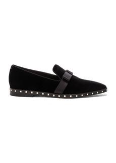 Valentino Soul Stud Velvet Slippers