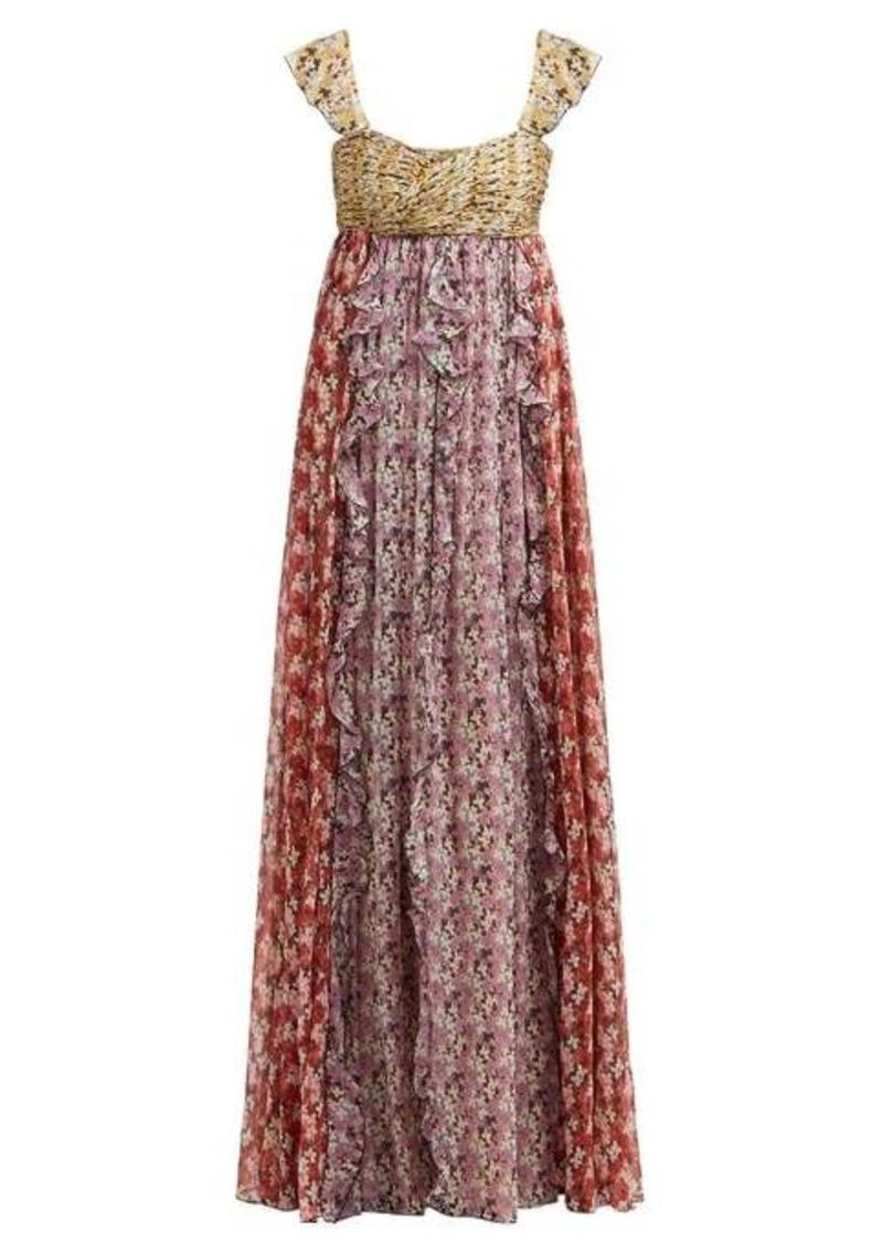 Valentino Spring Garden-print silk-chiffon gown