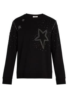 Valentino Star stud-embellished sweatshirt