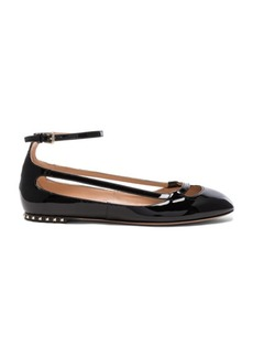 Valentino Stardust Babe Patent Leather Ballerina Flats