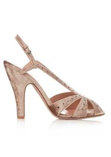 Valentino Stardust embellished velvet sandals
