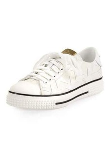 Valentino Stars Leather Low-Top Sneaker