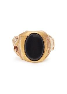 Valentino Stone-embellished signet ring