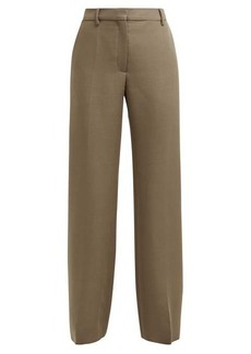 Valentino Straight-leg mohair and wool-blend trousers