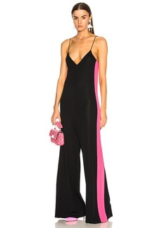 Valentino Stretch Viscose Jumpsuit with Contrast Bands