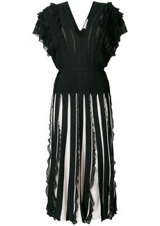 Valentino stripe panelled dress