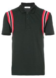 Valentino stripe shoulder polo shirt - Black