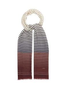 Valentino Garavani Striped cashmere-blend scarf