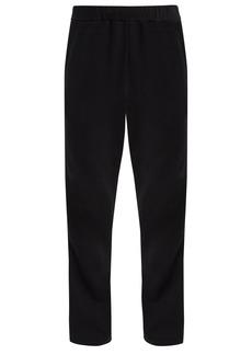 Valentino Striped-side cotton-jersey track pants