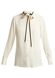 Valentino Striped silk-georgette blouse