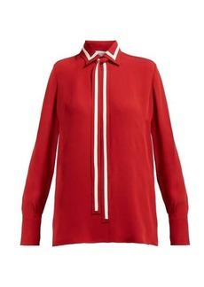 Valentino Striped silk-georgette blouse