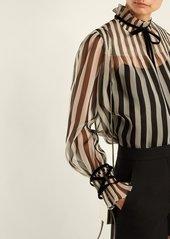 Valentino Striped silk organza blouse