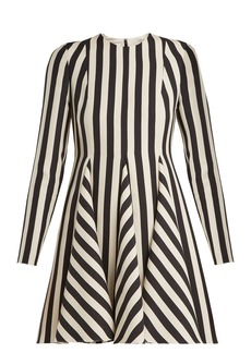 Valentino Striped wool and silk-blend dress
