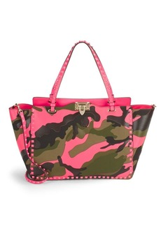 Valentino Studded Camouflage Tote Bag