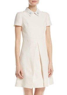 Valentino Studded-Collar A-Line Dress
