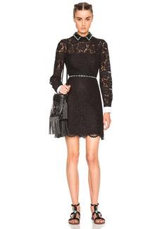 Valentino Studded Collar Mini Dress