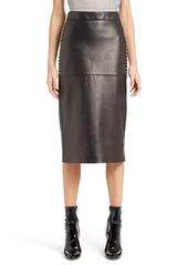 Valentino Studded Lambskin Leather Skirt