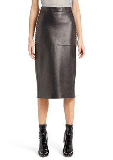 Valentino Studded Lambskin Leather Skirt