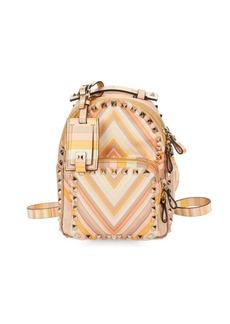 VALENTINO GARAVANI Studded Printed Backpack