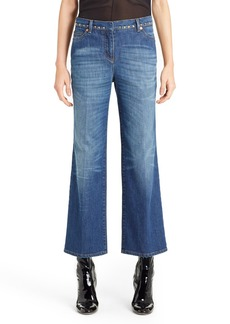 Valentino Studded Wide Leg Jeans (Medium Blue)