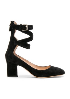 Valentino Suede Ankle Strap Heels