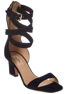 Valentino Suede Ankle Wrap Sandal
