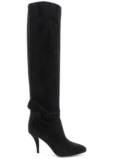 Valentino Suede Bow Knee High Boots