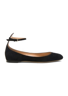 Valentino Suede Tango Leather Flats