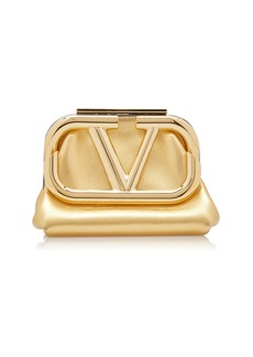 Valentino Valentino Garavani Supervee Metallic Leather Mini Clutch