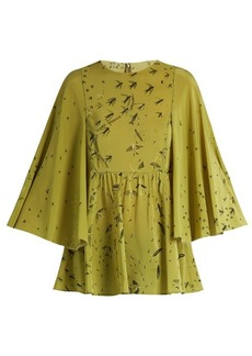 Valentino Swallow Metamorphosis-print silk top