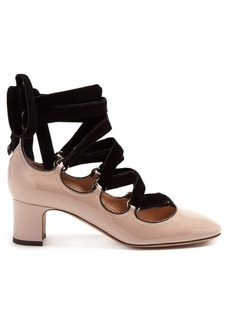 Valentino Tan-go lace-up patent-leather pumps