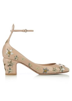 Valentino Tan-Go star-embellished leather pumps