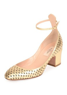 Valentino Tan-Go Strass Perforated Pump