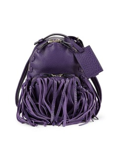 VALENTINO GARAVANI Tasseled Fringe Leather Backpack