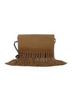 Valentino Garavani Tasseled Leather Shoulder Bag