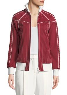 Valentino Techno Jersey Zip-Front Track Jacket