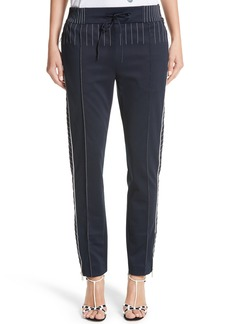 Valentino Techno Stretch Jersey Track Pants