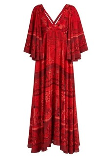 Valentino The Garden of Earthly Delights-print silk dress