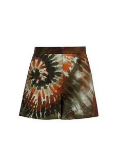 Valentino Tie-dye cotton-blend gabardine shorts