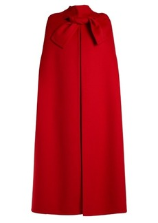 Valentino Tie-front wool and cashmere-blend cape