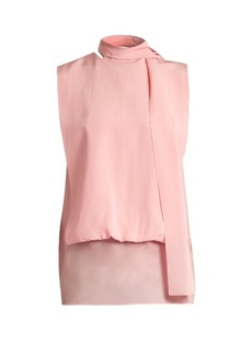 Valentino Tie-neck silk-georgette blouse