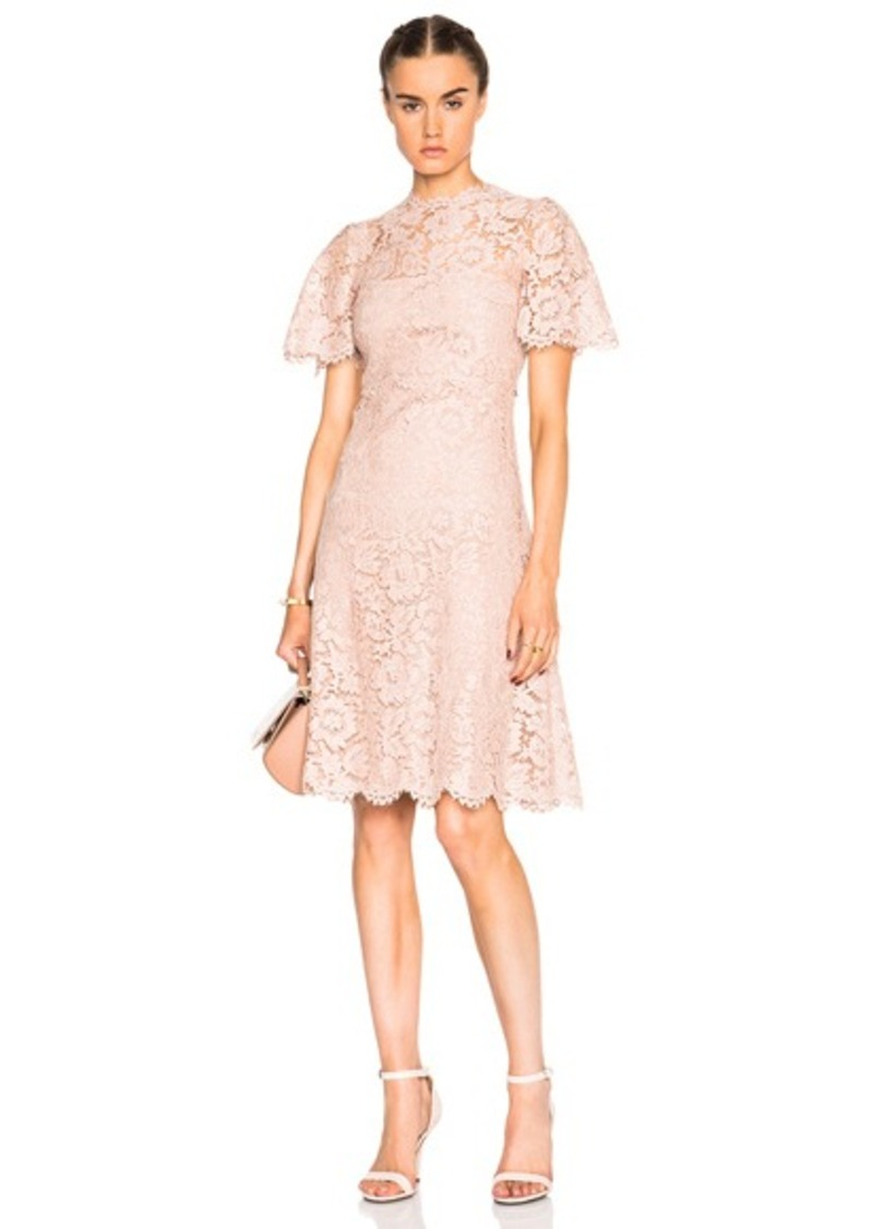 Valentino Tiered Long Lace Dress
