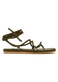 Valentino Torchon satin-rope wraparound sandals