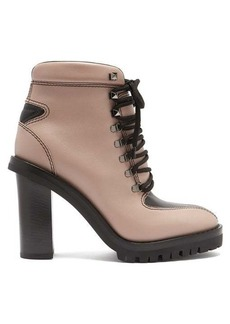 Valentino Trekking lace-up leather boots