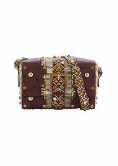 Valentino Tribal-Inspired Medium Leather Shoulder Bag
