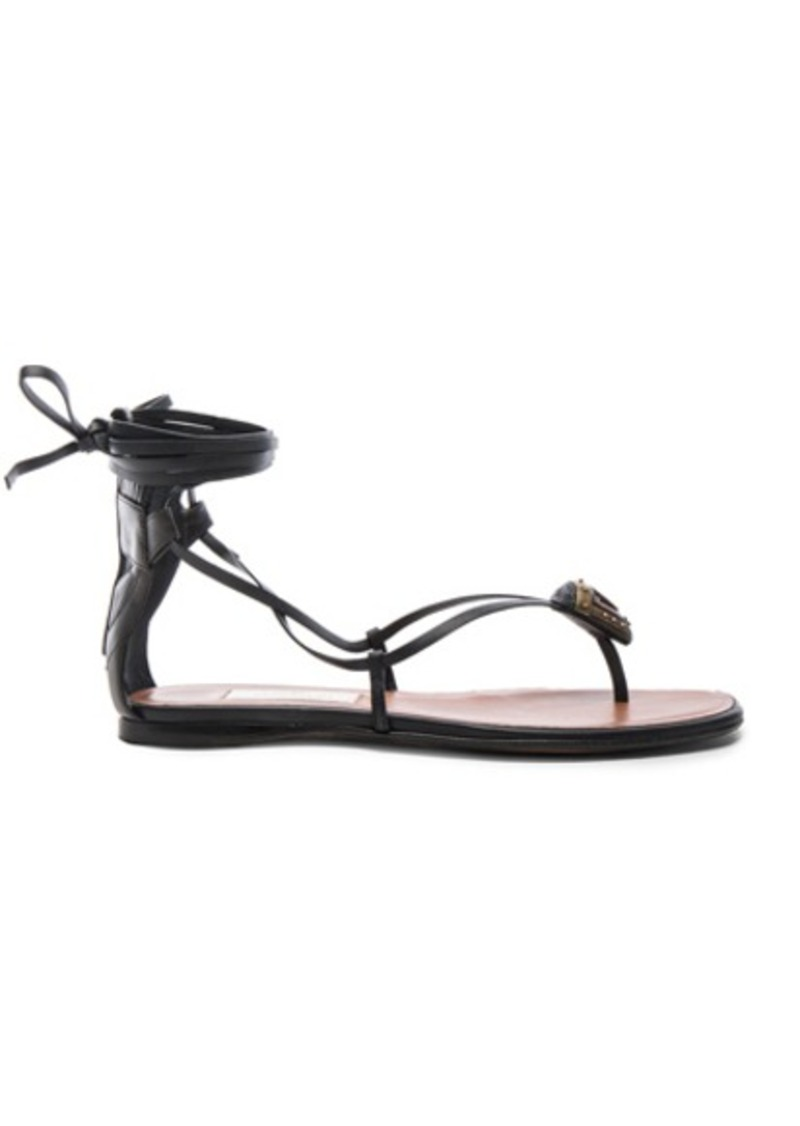 Valentino Tribe Gladiator Leather Flat Sandals
