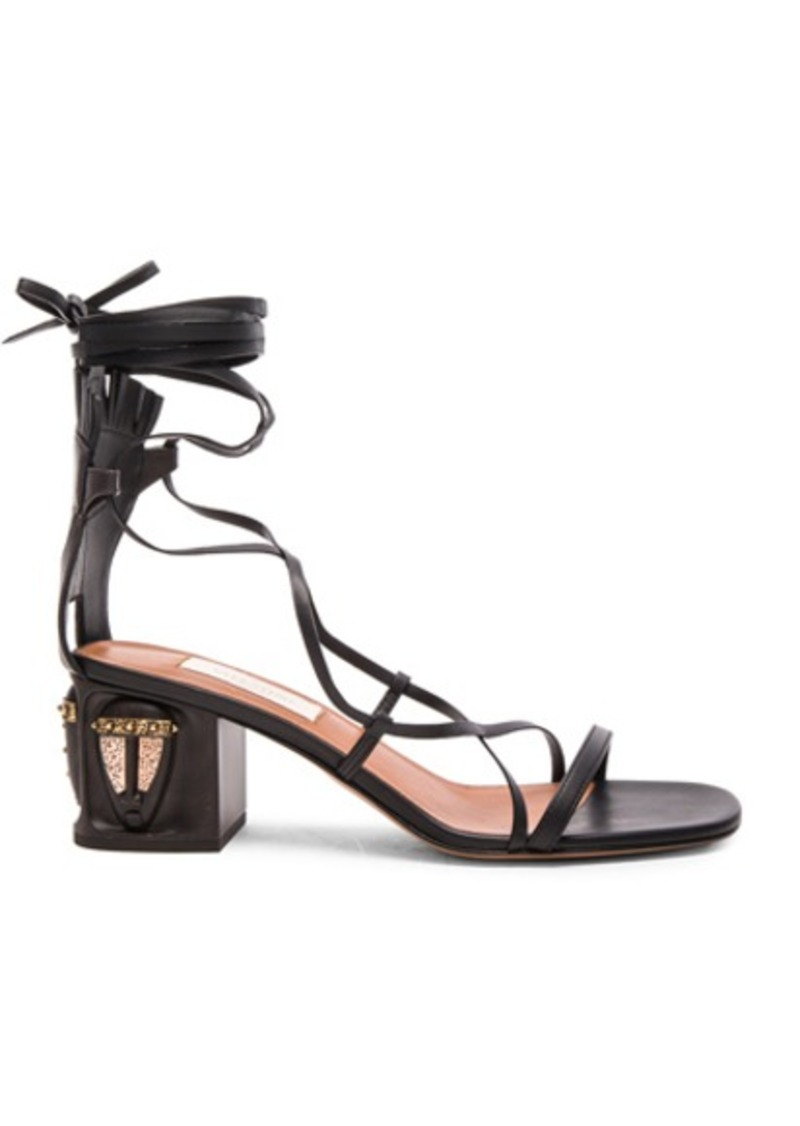 Valentino Tribe Gladiator Leather Heeled Sandals