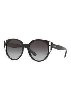 Valentino Two-Tone Acetate Round Sunglasses